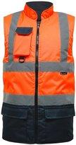 Elum® Mens Hi Visibility Body Warmer Reversible Workwear Jacket