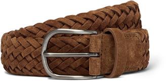 Andersons 4cm Tan Woven Suede Belt