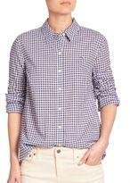 Vineyard Vines Cotton Gingham Button-Front Shirt