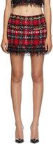 Thumbnail for your product : Balmain Multicolor Tweed Tartan Miniskirt