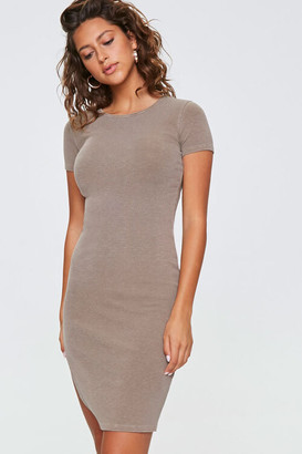 Forever 21 Ribbed Bodycon T-Shirt Dress