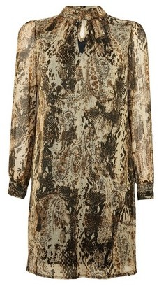 Dorothy Perkins Womens Billie & Blossom Petite Multi Coloured Snake Print Shift Dress