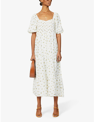 Faithfull The Brand Gianna floral-print linen midi dress