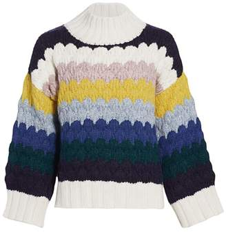 Eleven Six Freya Scalloped Stripe Sweater