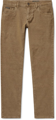 Dolce & Gabbana Skinny-Fit Cotton-Blend Corduroy Trousers