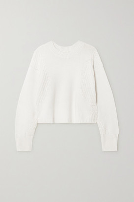 LOULOU STUDIO Huahine Cotton And Cashmere-blend Sweater - White