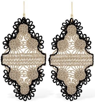 Stella McCartney Lvr Sustainable Cotton Thread Earrings