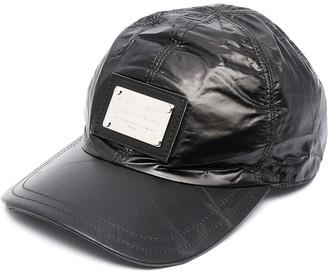 Dolce & Gabbana Silver-Tone Logo-Plaque Cap