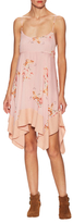 Free People Faded Bloom Asymmetrical Flared Dress