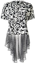 Puma Maison Yasuhiro floral print peplum back T-shirt