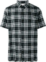 Saint Laurent short sleeved checked shirt