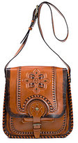 Patricia Nash Painted Tooled Barletta Saddle Bag