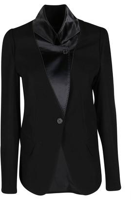 Ann Demeulemeester Black Cotton-virgin Wool Blend Blazer