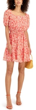 Thumbnail for your product : Taylor Petite Square-Neck Peasant Dress