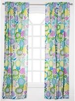Crayola Pointillist Pansy Curtain Panel