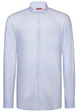 Extra-slim-fit shirt in graph-check cotton jacquard