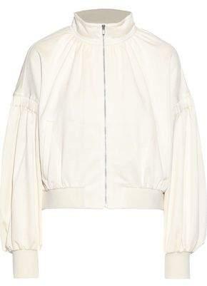 Tibi Cropped Stretch-pique Track Jacket