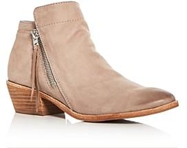 Sam Edelman Women's Packer Leather Low Heel Booties