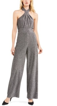 Michael Kors Michael Lurex Twist Halterneck Jumpsuit, Regular & Petite Sizes