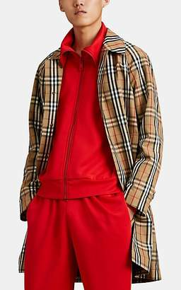 Burberry Men's Checked Trench Coat - Lt. brown