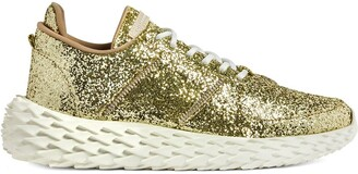 Giuseppe Zanotti Urchin platinum glitter sneakers