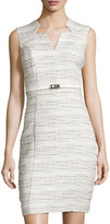 Karl Lagerfeld Sleeveless Tweed Sheath Dress, Blanca Multi