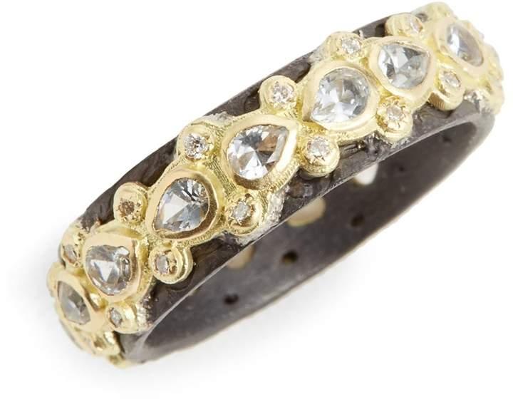 Armenta Old World Lacy Eternity Diamond & Sapphire Ring