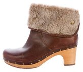 UGG Shearling-Trimmed Ankle Boots