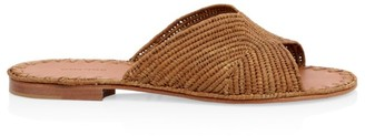 Carrie Forbes Naturel Raffia Slide Sandals