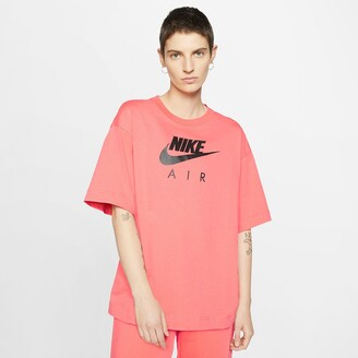 Nike Loose Fit Cotton Logo T-Shirt with Short Sleeve and Round neck
