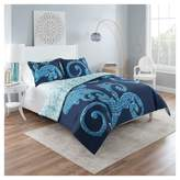 Vue Blue Abstract Zendaya Reversible Comforter Set
