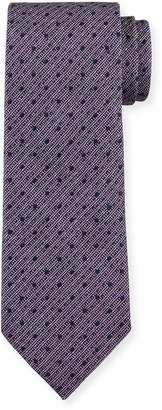 Ermenegildo Zegna Men's Narrow Stripe Silk Tie, Pink