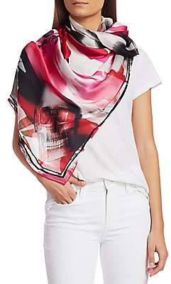 Alexander McQueen Women's Watercolor Silk Wrap Shawl
