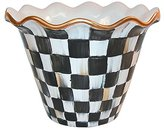 "Mackenzie Childs MacKenzie-Childs 8"" Courtly Check Flower Pot"