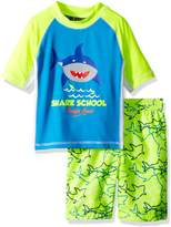 iXtreme Toddler Boys' Shark Rash Guard Set