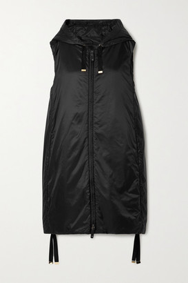 Max Mara The Cube Cameluxe Hooded Padded Shell Vest - Black