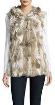 La Fiorentina Rabbit Fur Vest