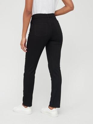 Very Short Isabelle High Rise Slim Leg Jean - Black
