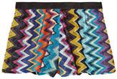 Missoni Mare Metallic Crochet-knit Shorts - Blue