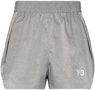 Y-3 CH1 logo-print running shorts