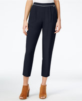 Armani Exchange Cropped Pull-On Pants