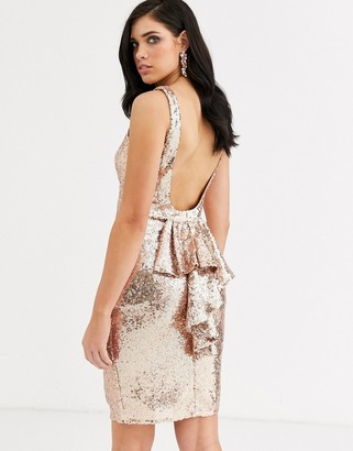 City Goddess halterneck midi sequin dress