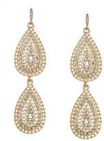 ABS by Allen Schwartz Embellished Double Teardrop Earrings