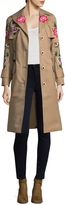 Manoush Women's Floral Wool Trench Coat
