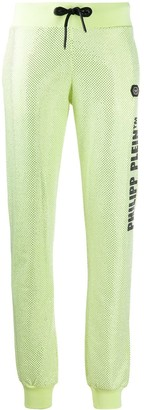 Philipp Plein Stud Embellished Cotton Track Pants