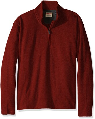 Wrangler Authentics Men's Big-Tall Sweater Fleece Quarter-Zip