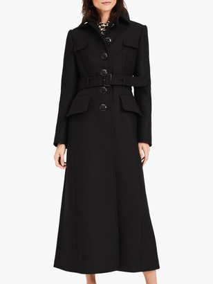 Damsel in a Dress Collette Longline Coat, Black