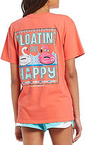 Jadelynn Brooke Floatin On Happy V-Neck Short-Sleeve Graphic Tee