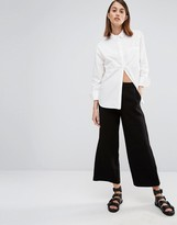 Selected Cropped Wide Leg Pant