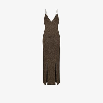 Ganni Tie Back Lurex Slip Dress